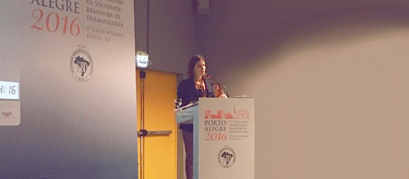 Dra. Tatiana Biasi palestra no 71º Congresso da Sociedade Brasileira de Dermatologia